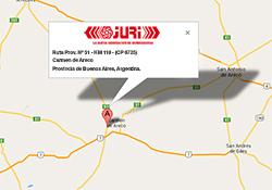 mapa de ubicación de Juri